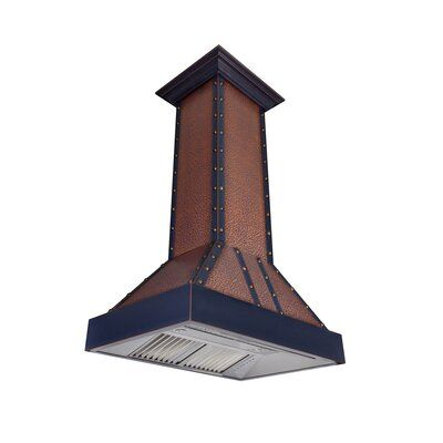 Zline Kitchen And Bath 36 Designer Series 1200 Cfm Ducted Island Range Hood In 2020 Island Range Hood Stainless Steel Range Hood Copper Hood
