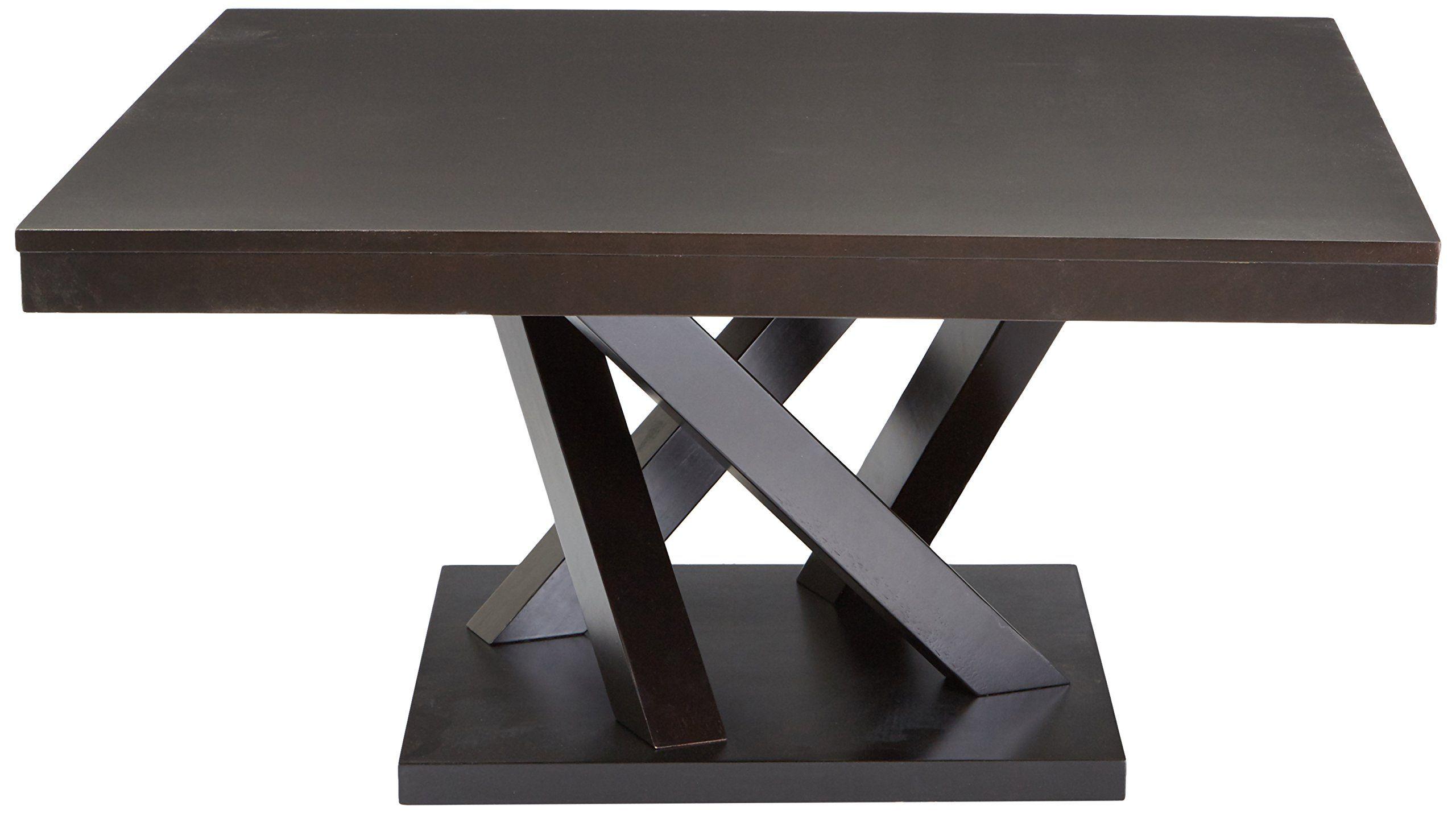 Baxton Studio Everdon Modern Coffee Table Dark Brown Be Sure To