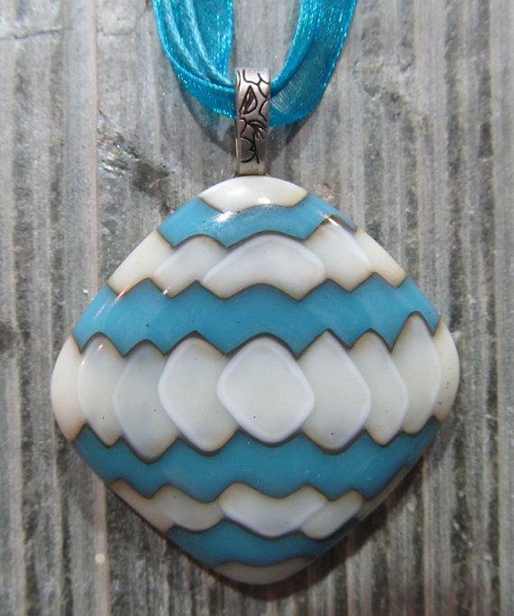 Fused Glass Pendant with ribbon necklace: More Zig by KanYoFuse