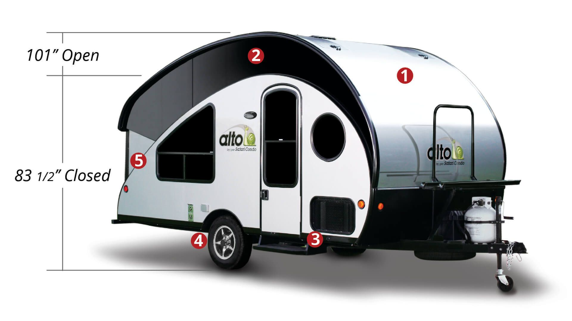 Travel Trailers Alto Safari Condo Check Out The Windows