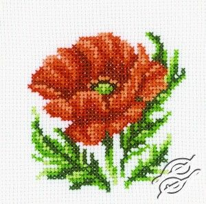 CROSS STITCH KITS - RTO - Cross Stitch Kits - Flowers - Poppy - Gvello Stitch