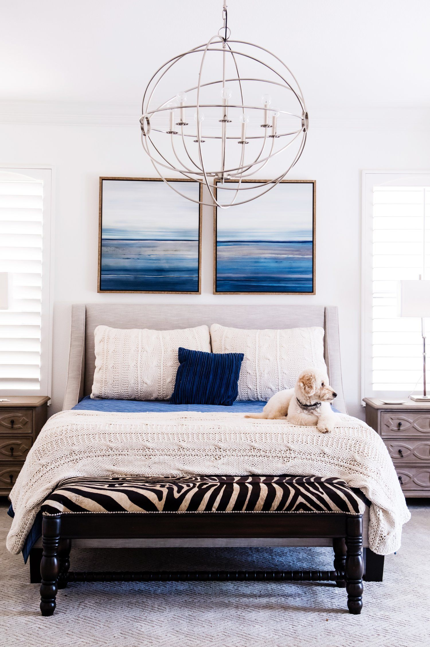 Chandelier For Master Bedroom Remodel Coastal Sophisticated