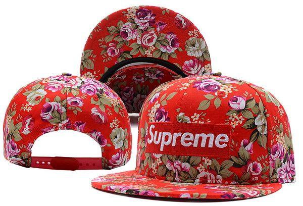 Supreme Baseball Novelty  Flower Snapback Hats  8b9a8276227