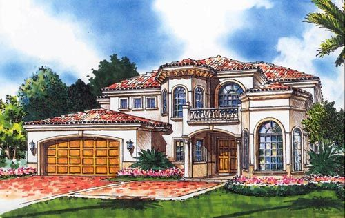 Italian Style Houses italian style house plans - 3596 square foot home , 3 story, 3