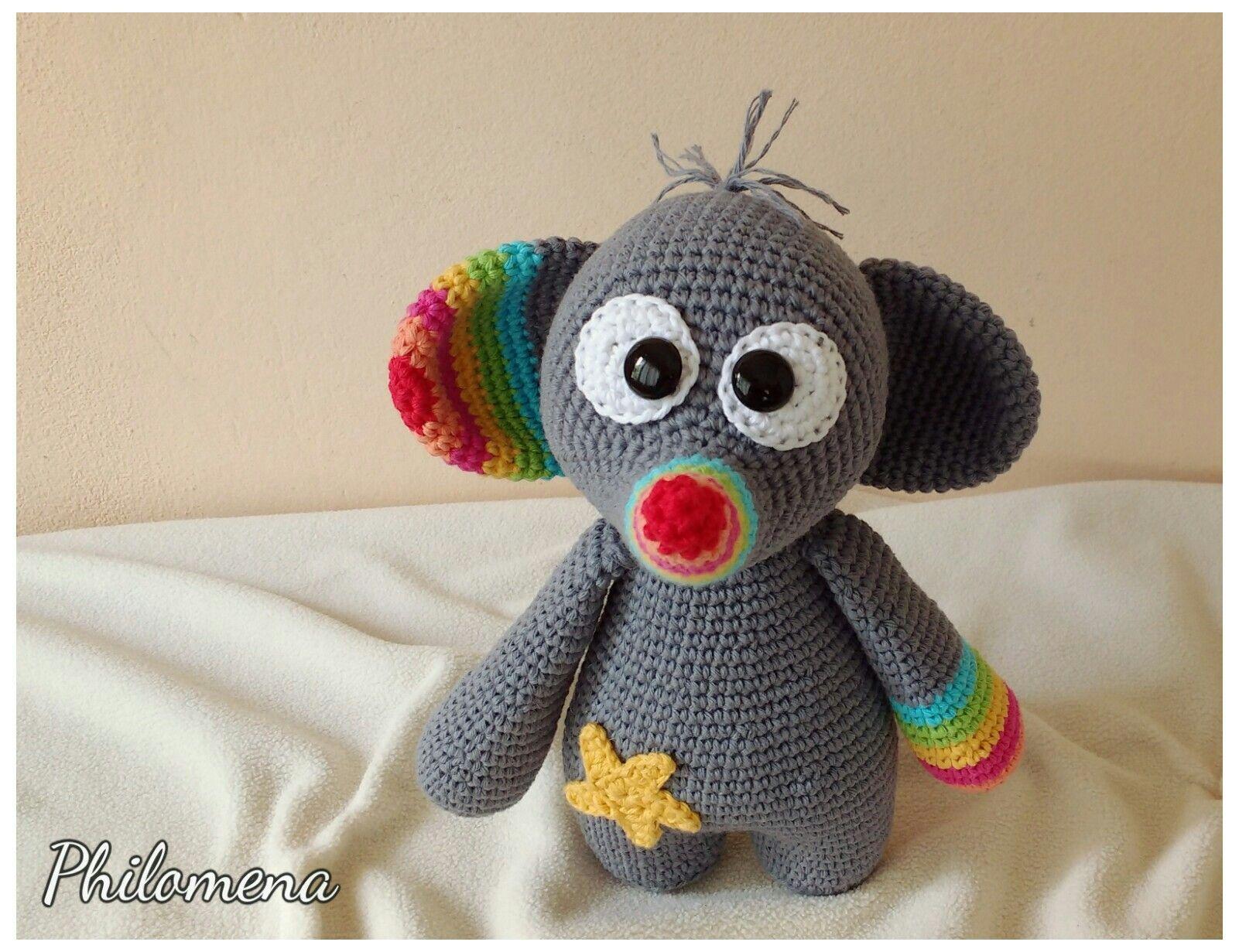 Amigurumi Voor Beginners : Elefante amigurumi by philomena игрушки amigurumi