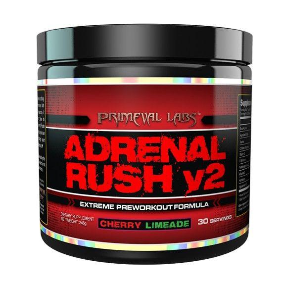 Primeval Labs Adrenal Rush V2 30 Servings Adrenals Preworkout Workout Supplements