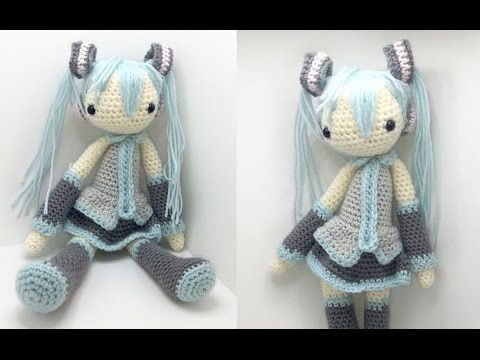 Hatsune Miku Amigurumi Crochet Tutorial Part 5 - YouTube   bonecos ...