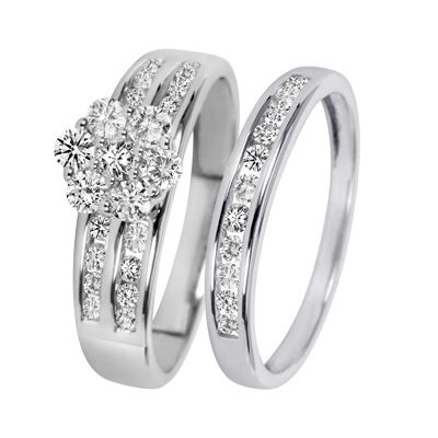 Gentil Exclusive White Gold Wedding Rings For Women And Men