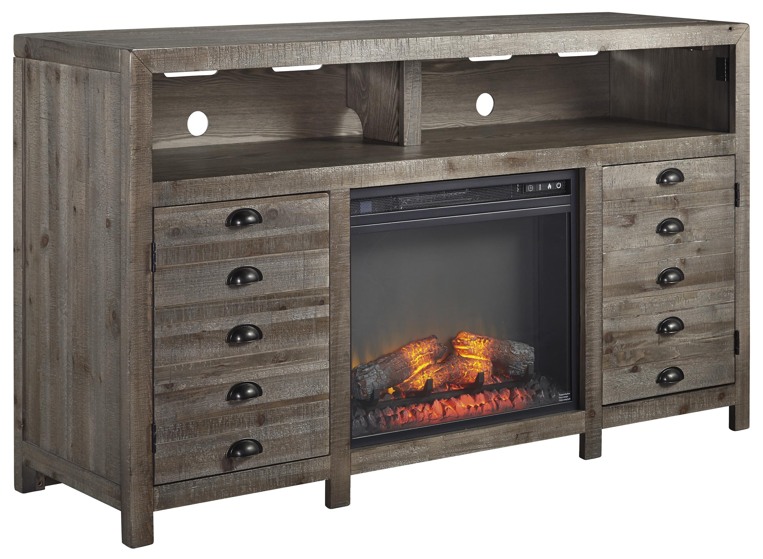 Keeblen TV Stand with Electric Fireplace Insert by Ashley ...