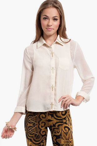 Holy Buttons Blouse $19 at www.tobi.com