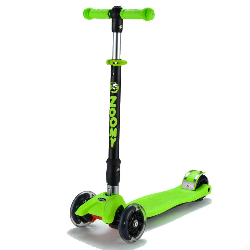 Kids Maxi Scooter with Flashing Wheels, Folding, Adjustable Height