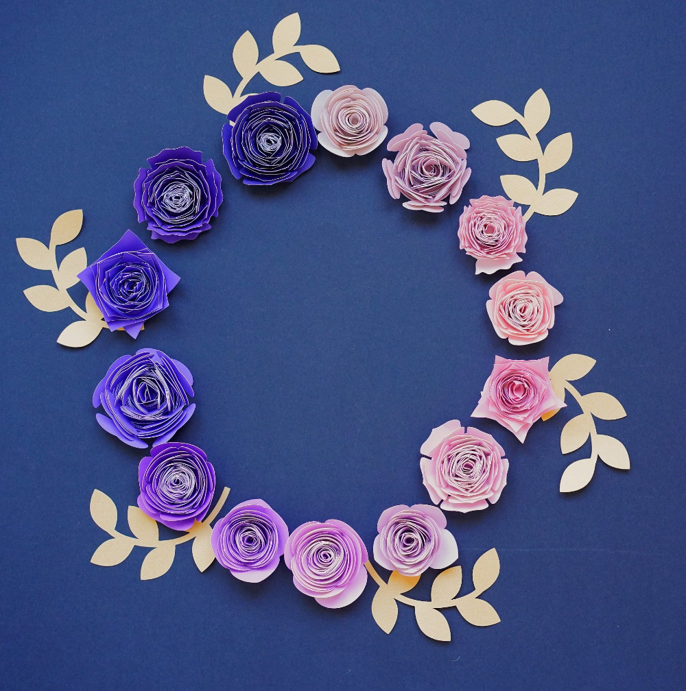Download 12 Free rolled flower svg Templates - DIY 3d Paper flowers ...