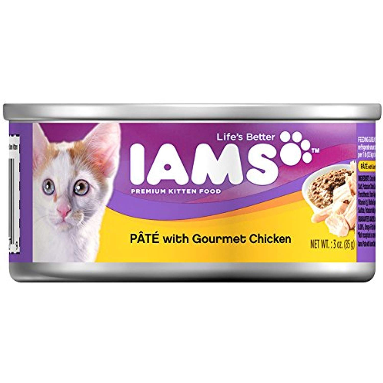 Iams Pate Kitten Wet Cat Food Chicken 3 Oz Pack Of 24