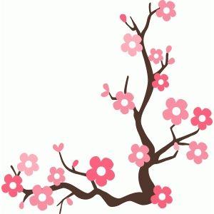 cherry blossom branch silhouette design cherry blossoms and rh pinterest com au