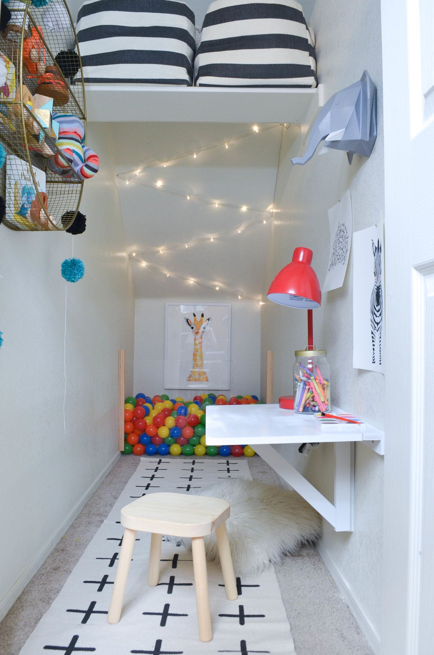 Kids Play Room Design: The Big Reveal: Under The Stairs Play Closet