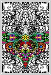 Giant sized coloring posters and unique fuzzy velvet designs ...