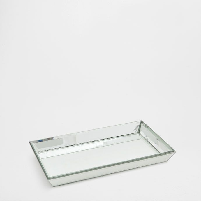 Home Decor Trays Decorative Mirrored Tray  Pure White Campaign Aw16  Editorials