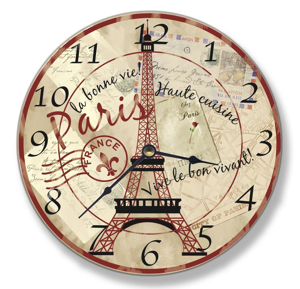 Kitchen Wall Clock Decor Ideas Amazon Stupell Home Decor Collection Paris Eiffel Tower Wall