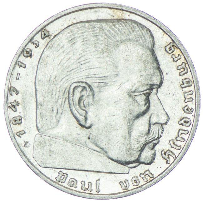 2 Reichsmark 1936 E