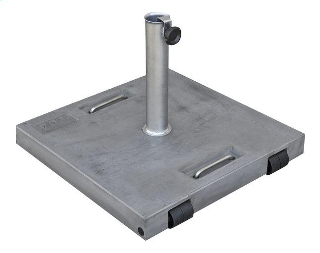 afbeelding van tuozi betonnen parasolvoet stealth 50 roll 50 kg grijs from collishop terras. Black Bedroom Furniture Sets. Home Design Ideas