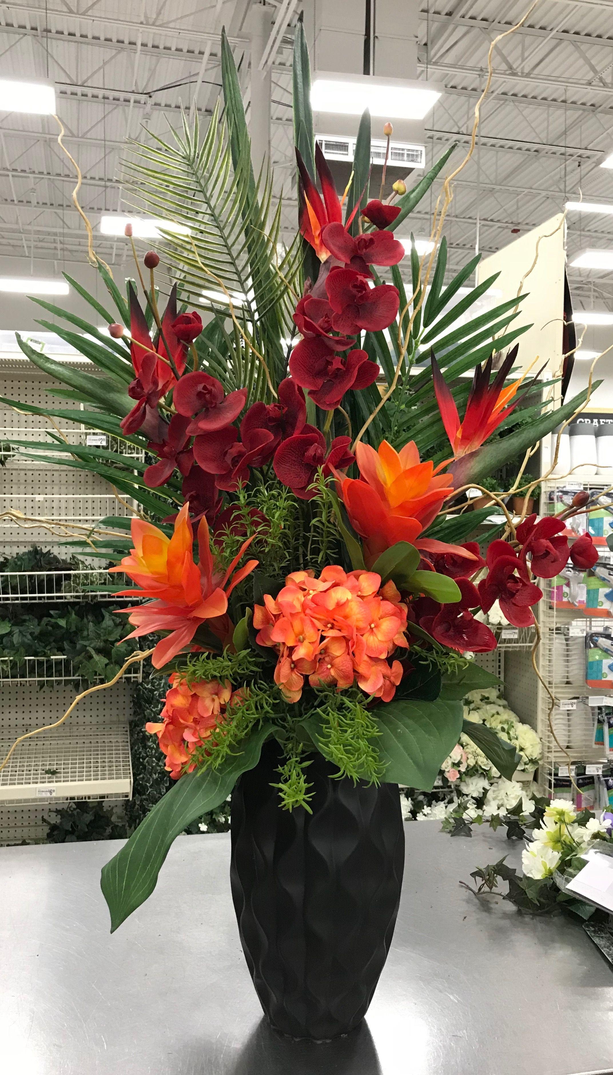 Large Tropical Arrangement By Andrea Michaels Custom