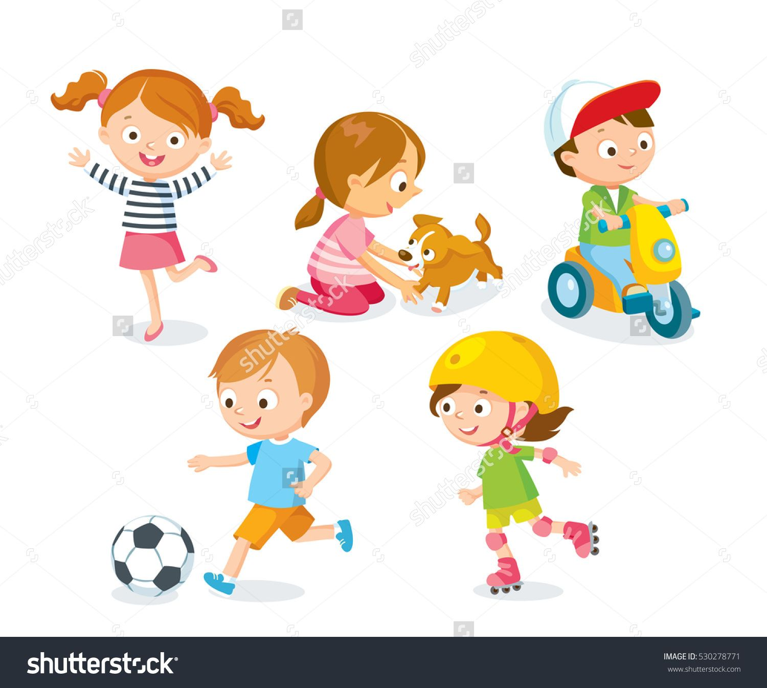 Children Playing With Toys Pets Playing Football بيوت عتيقه