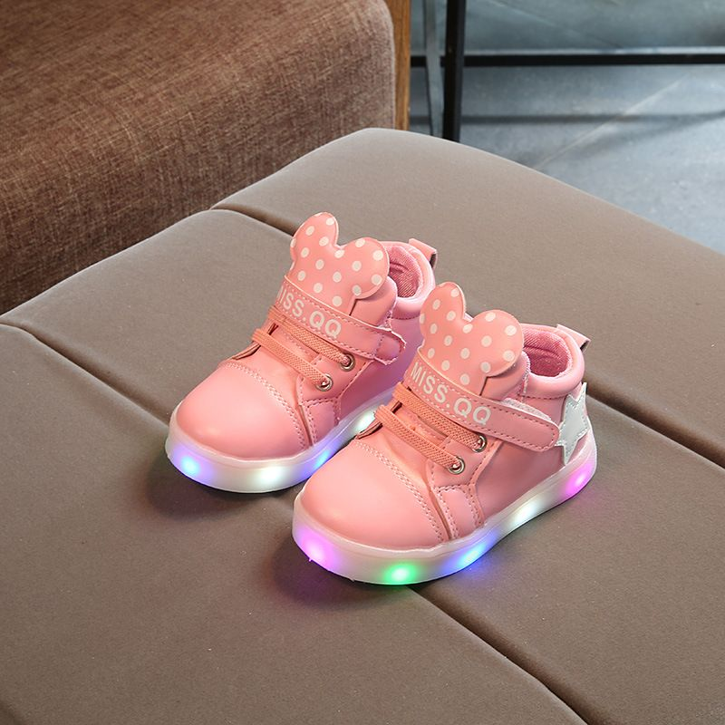 Awesome 2017 New Spring And Autumn Children S Shoes Led Light Shoes Girls Sports Light Shoes Baby High Help Fla Kids Shoes Sale Childrens Shoes Baby Girl Shoes