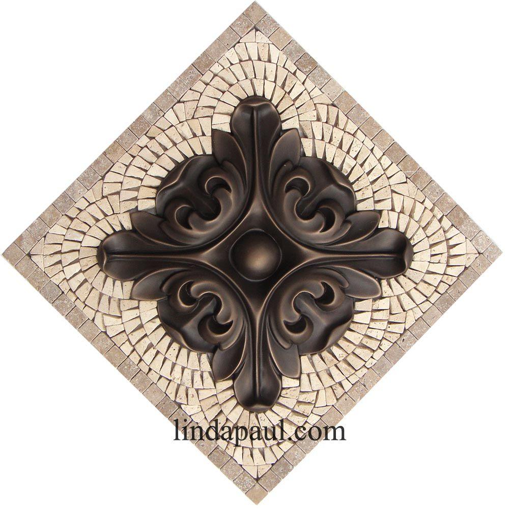 Mosaic Kitchen Backsplash Tile Medallions And Accents Mosaic Backsplash Kitchen Metallic Backsplash Mosaic Tile Backsplash