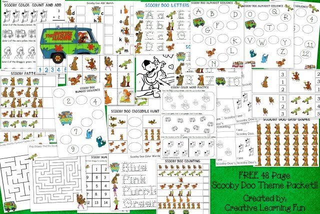 FREE 48 page Scooby Doo Activity Packet by Creative Learning Fun ...