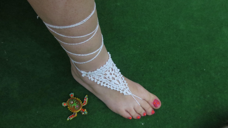 Sandalia de crochet | flaca | Pinterest