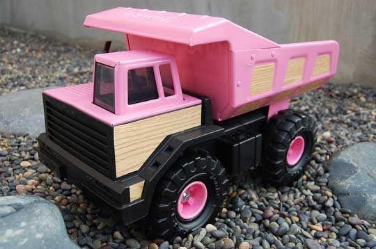 Look! Pink Tonka Trucks! I see a craft in my future! ;)