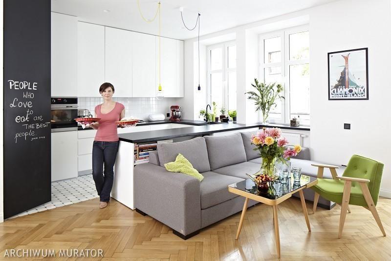 Skandynawska Kuchnia Z Salonem Wnetrze Perfekcyjnie Zorganizowane Open Plan Kitchen Living Room Small Living Rooms Living Room Kitchen