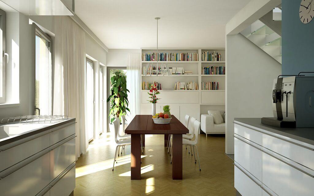 Inneneinrichtung Haus Evolution 136 V4 Bien Zenker - wohnzimmer offene k che