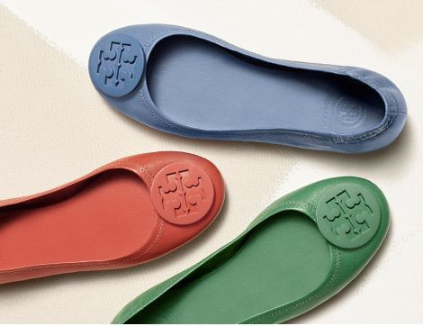 #ToryBurch #Ballerines #summercolors More on www.nudeismycolor.com