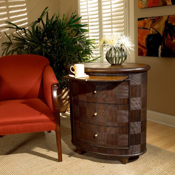 Designers Edge Collection Oval Side Chest