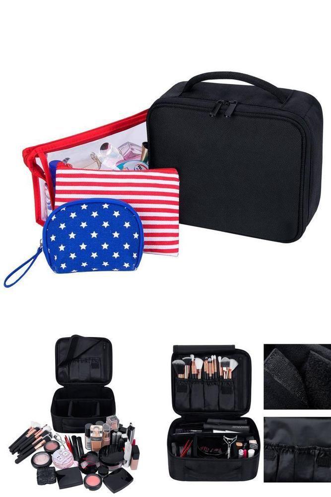 Black Cosmetic Makeup Case Bag Organizer Professional