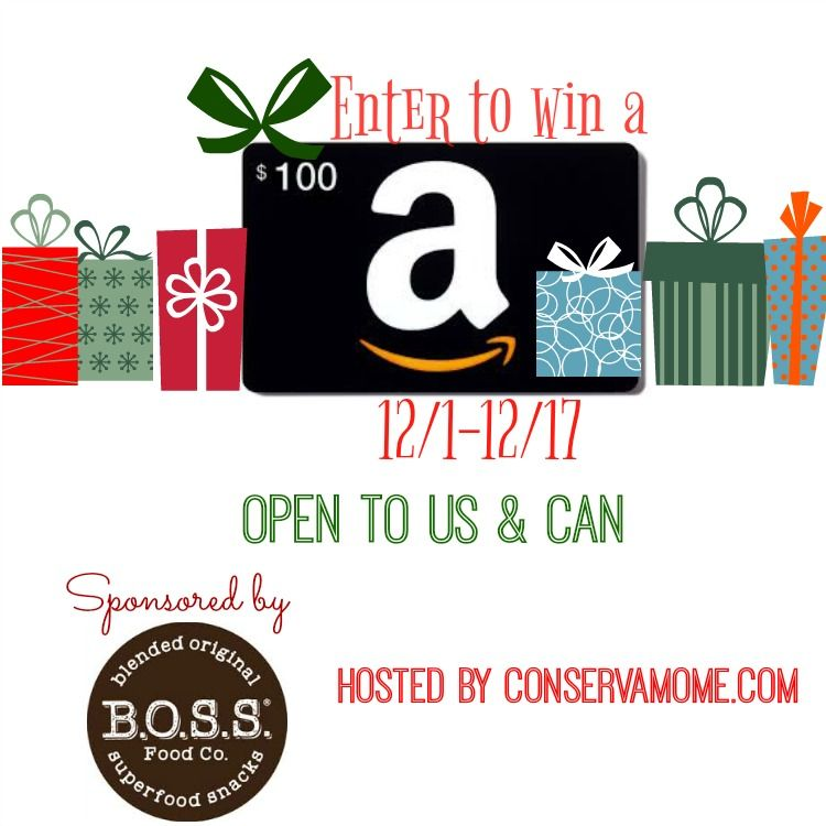 Fuel Your Holiday With B.O.S.S Food Co & $100 Amazon Gift