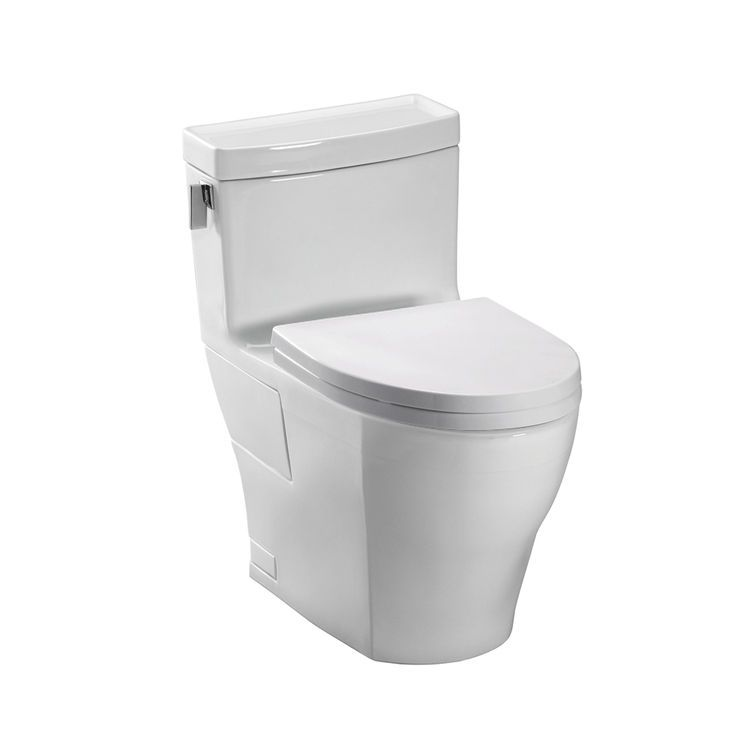 Toto Legato One Piece High Efficiency Toilet 1 28 Gpf Cotton White Ms624214cefg 01 With Images Toto Toilet One Piece Toilets Toto