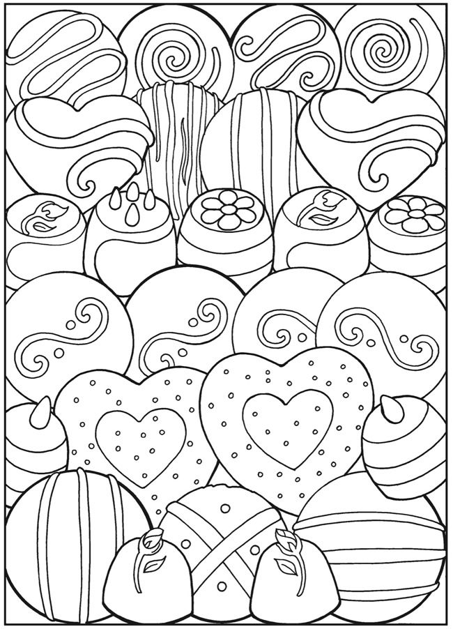 Valentine\'s Day coloring pages | Dessert Designs Coloring Pages ...