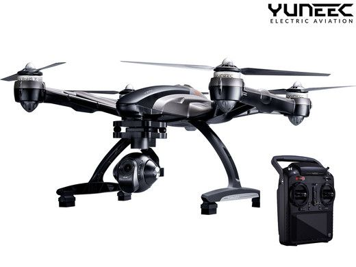 Dagaanbieding: Yuneec Q500 Typhoon Drone 4K UHD/2x 5400 mAH/Handheld SteadyGrip™
