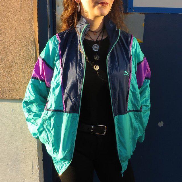 b10189abf7f 80s/90s Puma shell jacket vintage amazing retro jacket 1990s 1980s https://