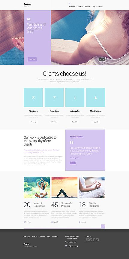 sport yoga relax active lifestyle website template sports