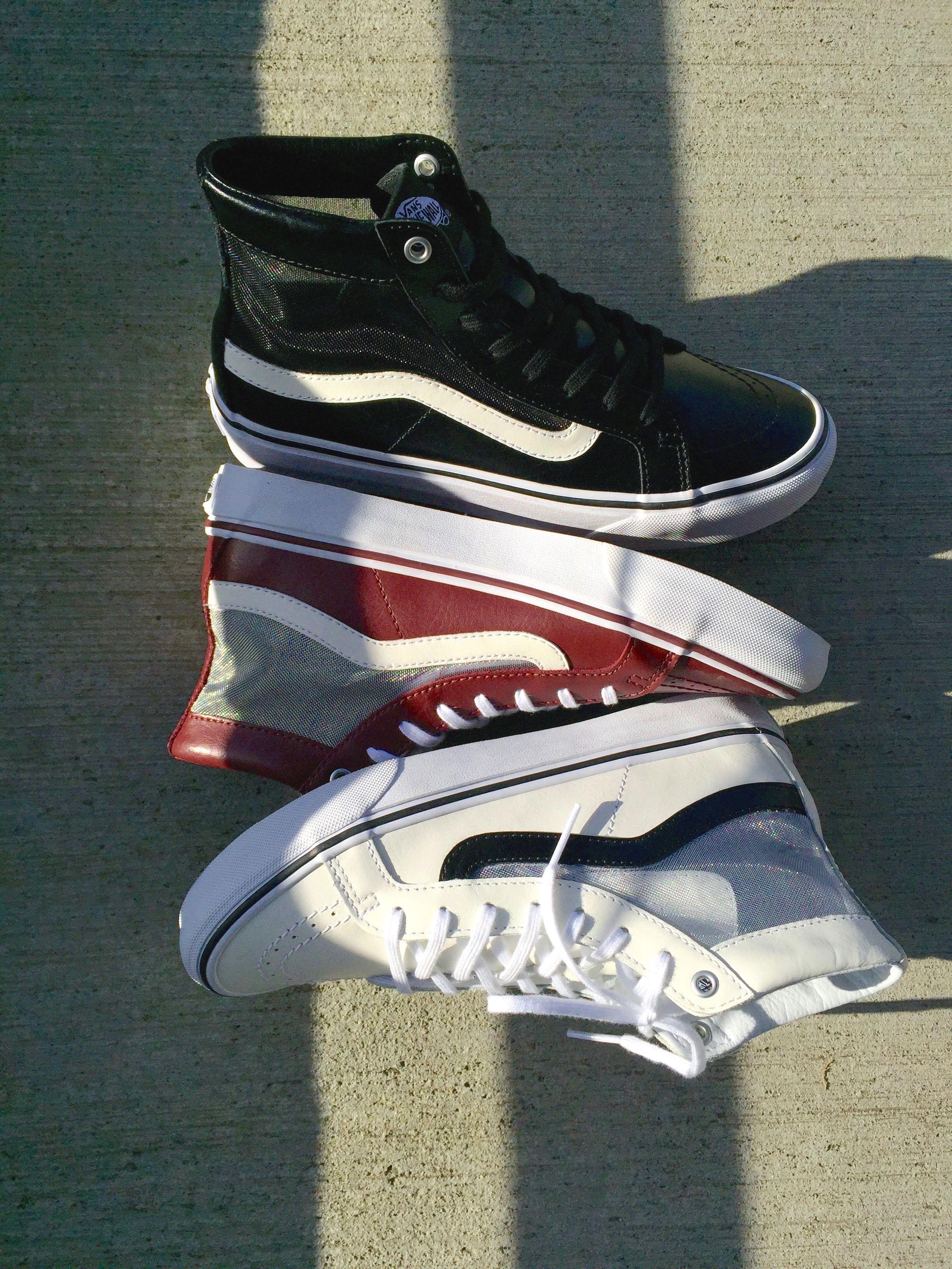 42d8d88140 Vans Sk8-Hi Slim Mesh Cutout Port Royal Shoes