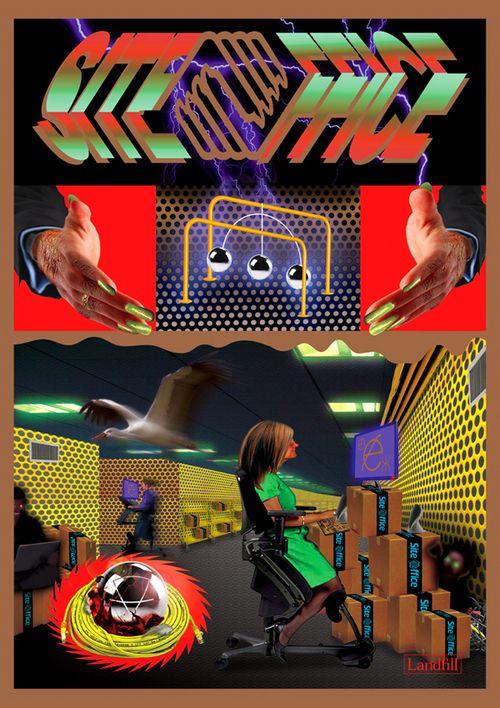 Ben Mendelewicz Site Office a2 Poste  #design #art #poster #trippy #creative #designer