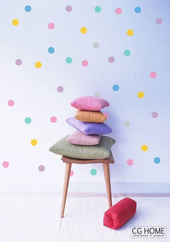 Konfetti 4 Zoll Polka DOTS Wand Aufkleber Rainbow Wall Decal 10 Farben Für  Kinder CGHOME Wand Kunst Kinderzimmer Kinderzimmer Dekoration