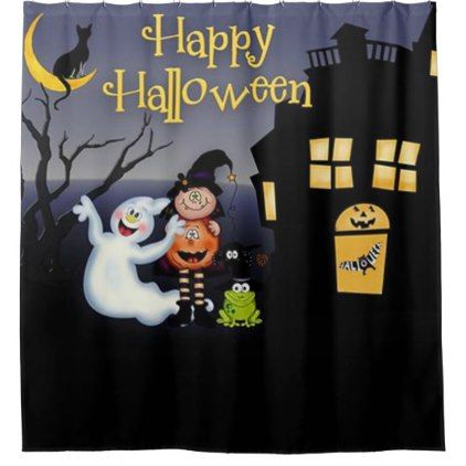 Happy Halloween Fun Spooky Friends Shower Curtain Zazzle Com