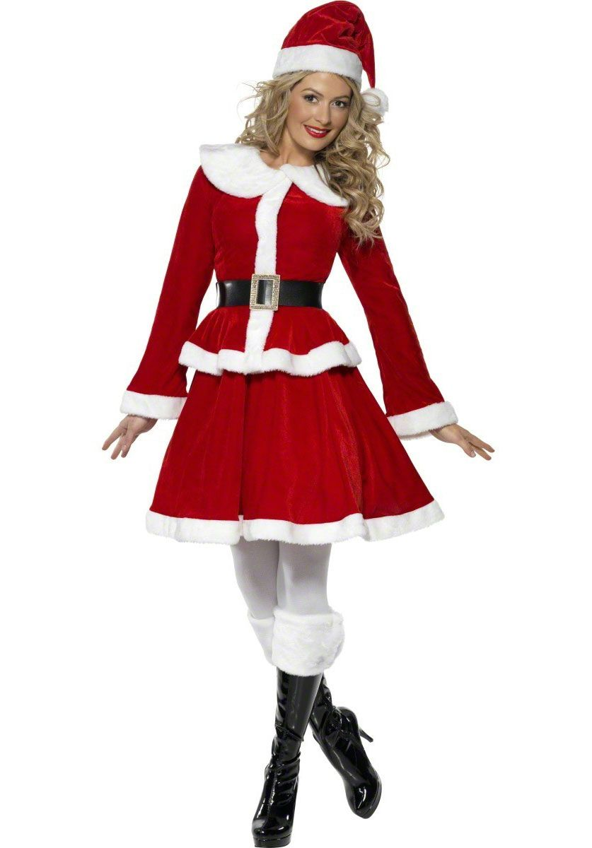 cacd6263659 Miss+Santa+Costume+with+Muff+-+Christmas+Costumes+at