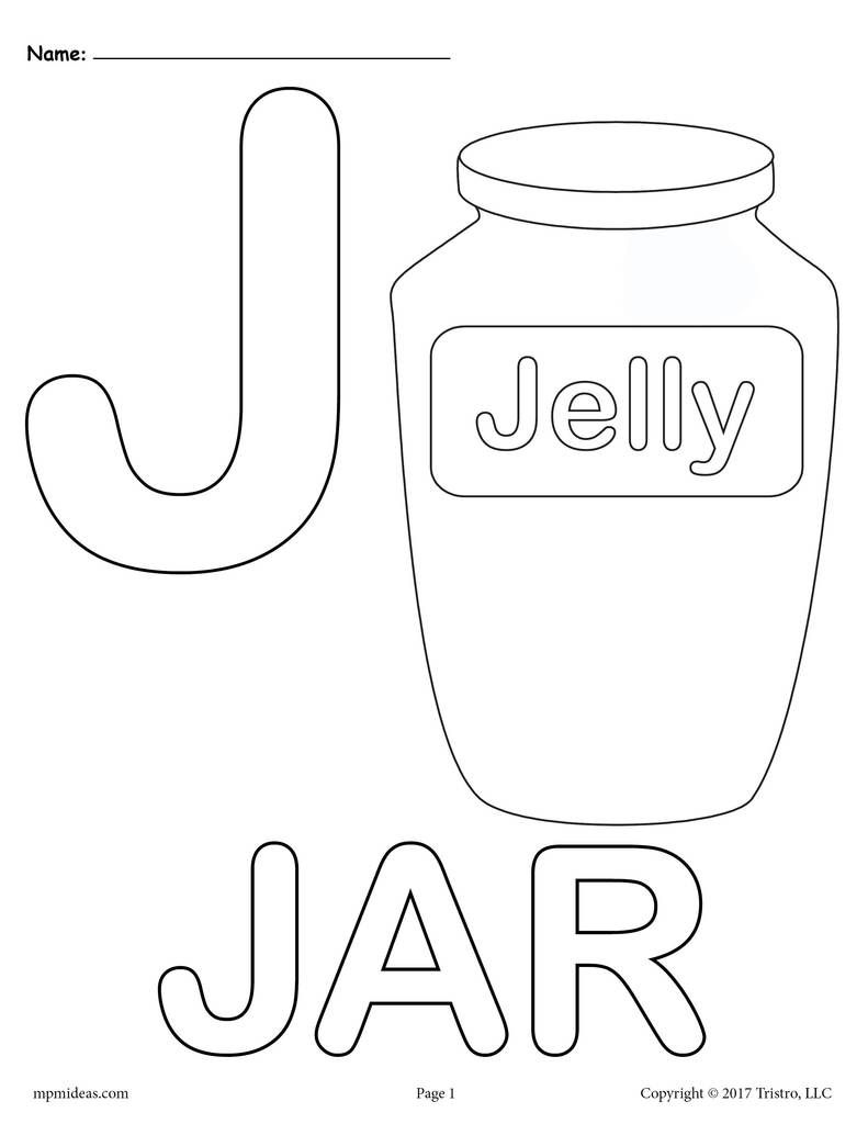 Letter J Alphabet Coloring Pages 3 Printable Versions Alphabet
