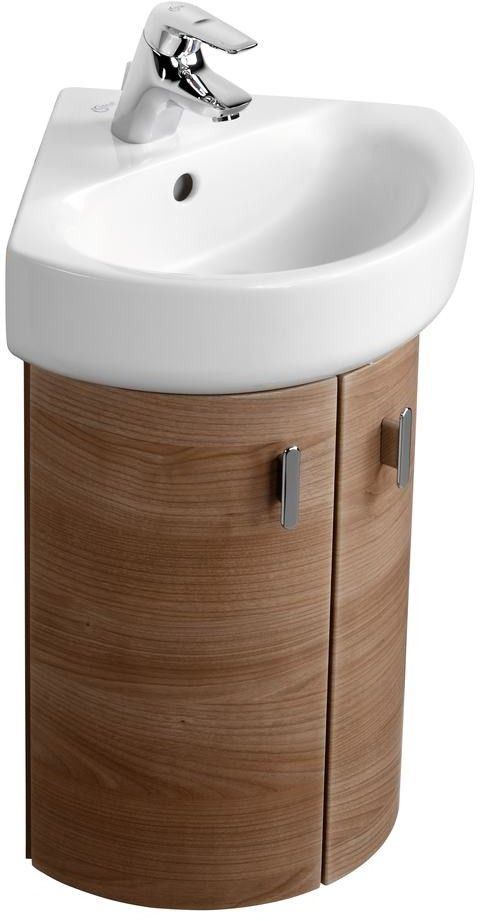 Ideal Standard Concept Wall Hung Corner Unit E6848 White E6848wg Small Bathroom Sinks Corner Sink Bathroom Bathroom Corner Cabinet