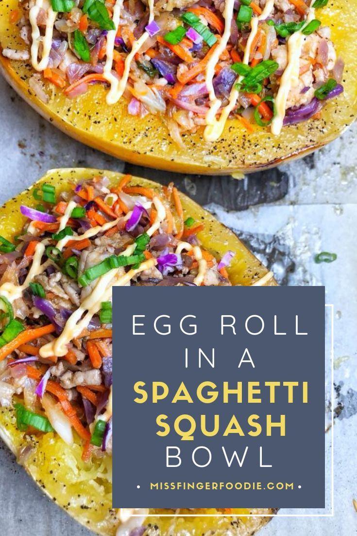 Egg Roll in a (Spaghetti Squash) Bowl #eggrollinabowl